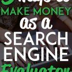 Make money as search engine evaluator pinterest pin