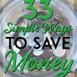 33 simple ways to save money pinterest pin