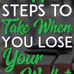 Steps to Take When You Lose Your Wallet Pinterest Pin