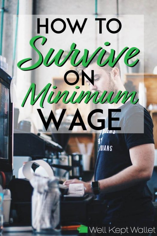 How to survive on minimum wage pinterest pin