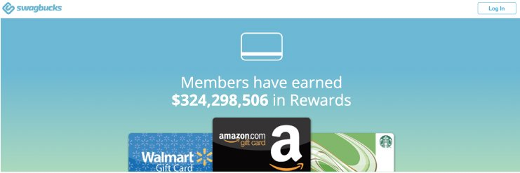Swagbucks rewards including free gift cards from Amazon Walmart and Starbucks