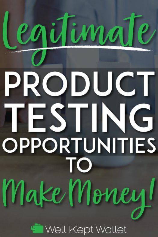 Legitimate product testing opportunities pinterest pin