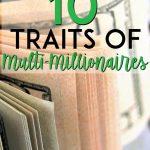 Traits of millionaires Pinterest Pin