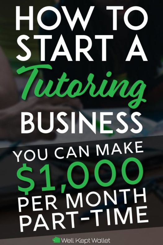 Start a tutoring business pinterest pin