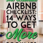 Ultimate airbnb checklist how to get more bookings pinterest pin