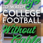 How to watch college football without cable pinterest pin