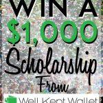 Win a scholarship WKW pinterest pin 2018