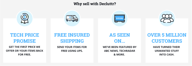 Reasons to sell with Decluttr