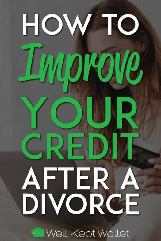 Improve your credit after a divorce Pinterest Pin