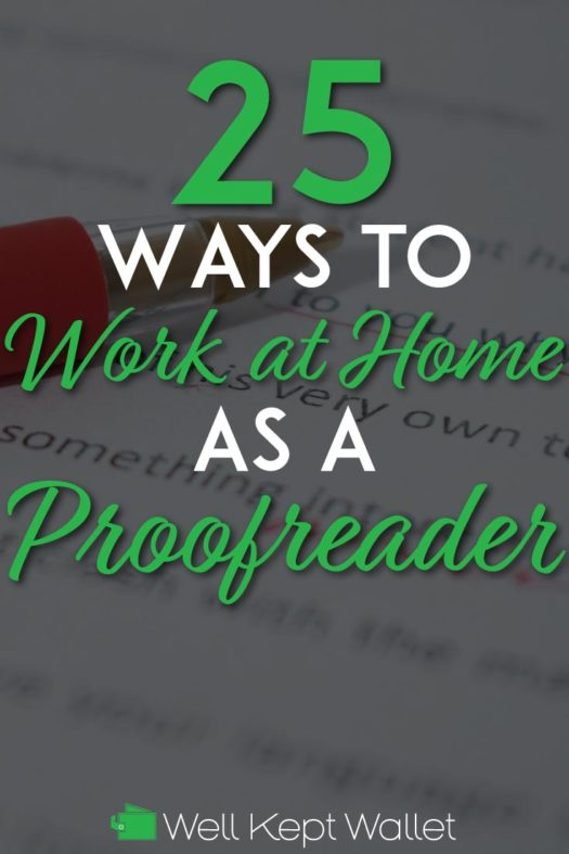 Work as a proofreader pinterest pin