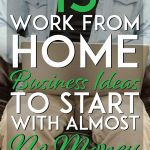 15 work from home business ideas to start with almost no money pinterest pin
