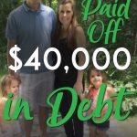 Young family of 4 paid off 40k pinterest pin