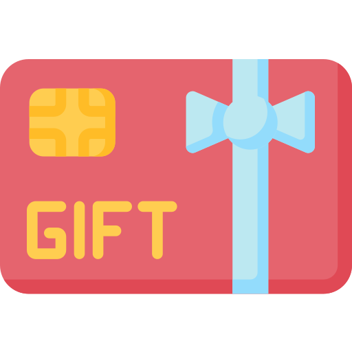 Gift card icon with bow
