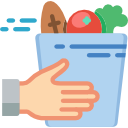 Groceries being delivered icon