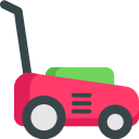 Red Lawn mower icon
