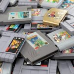 Pile of old video games to sell