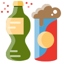 Soda bottle and