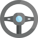 Steering Wheel logo Grey