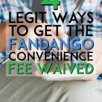 Legit ways to get the fandango convenience fee waived pinterest pin