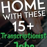 Transcriptionist Jobs Pin for Pinterest